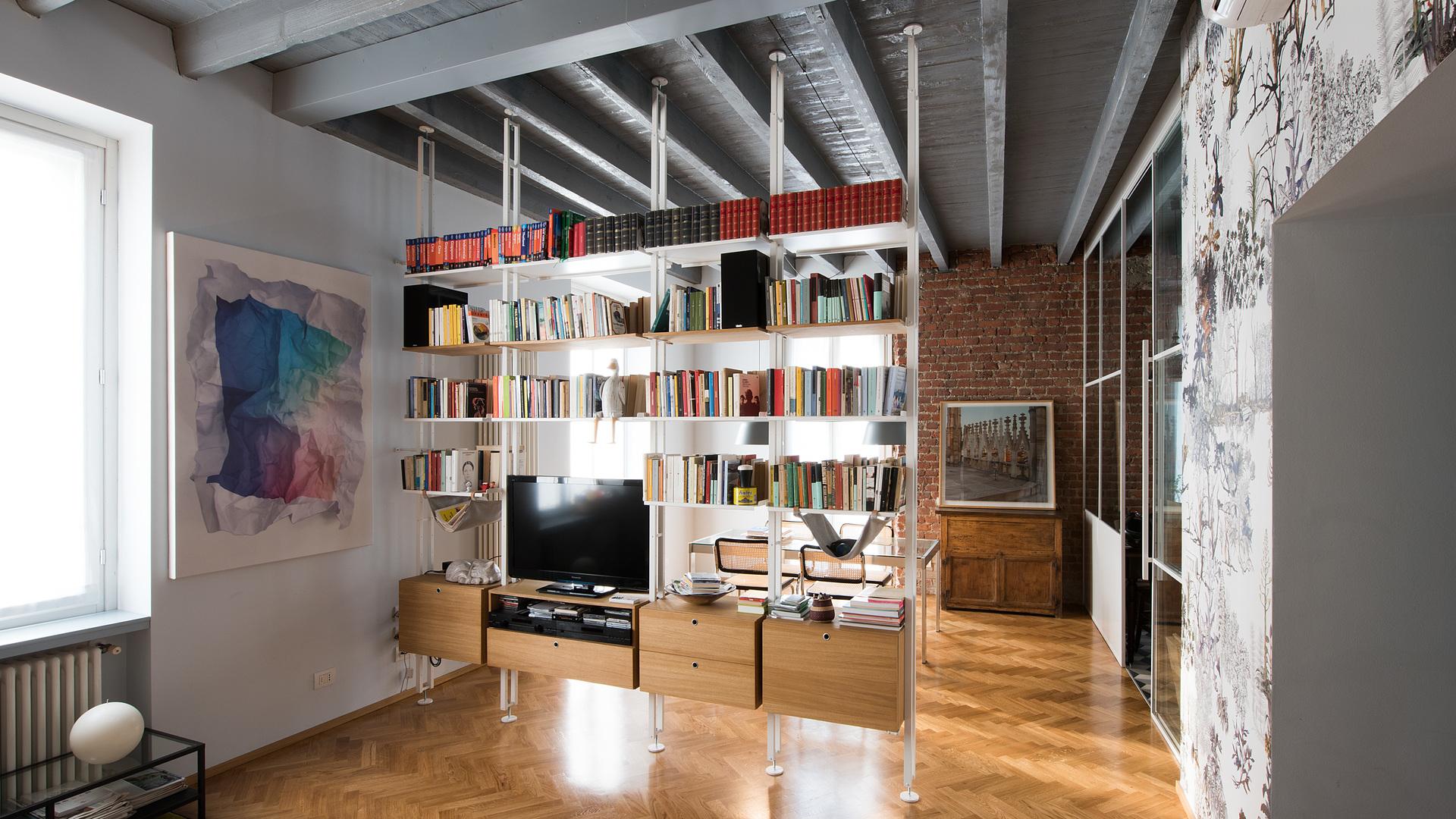 Libreria Bifacciale A Soffitto kriptonite | k2